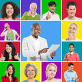 Multi ethnic people group of posing Royalty Free Stock Image