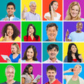 Multi ethnic people group of posing Stock Image