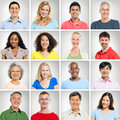 Multi ethnic portraits collection of Stock Photos