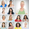 Multi ethnic women group of smiling Royalty Free Stock Photography
