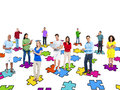 Multi ethnical people socail networking social Stock Images