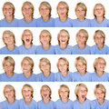 Multi facial expressions Royalty Free Stock Photo