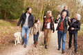 Multi Generation Family On Countryside Walk Royalty Free Stock Photo