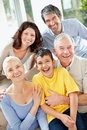 Multi generational family Royalty Free Stock Images