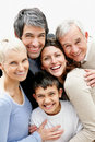 Multi generational family smiling together Royalty Free Stock Photography