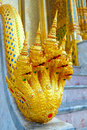 Multi headed naga at wat prakeaw buddhist temple Stock Image