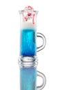 Multi-layered alcohol shot isolatet on white Royalty Free Stock Photo
