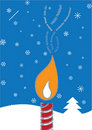 Multi-Lingual Candle holiday card Royalty Free Stock Image