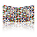 Multi media display Royalty Free Stock Image