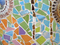 Multi Pastel Color of the Decorated Mosaic Wall