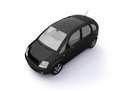 Multi-purpose black car top view Royalty Free Stock Photo