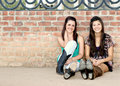 Multi-racial Teenage Girls Royalty Free Stock Photography