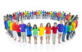 Multi racial world people united Concept Royalty Free Stock Photo