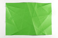 Multi shade green folded paper surface Royalty Free Stock Photo