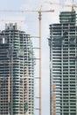 Multi-Storey Buildings Under Construction Royalty Free Stock Photos