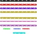 Multi Zeilen des farbigen Stabes in 3d Lizenzfreie Stockfotografie