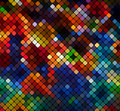 Multicolor abstract light disco background square pixel mosaic eps Royalty Free Stock Photography