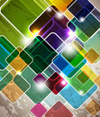 Multicolor abstract  squares design Stock Photos