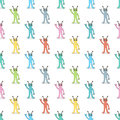 Multicolor aliens seamless pattern Royalty Free Stock Photo