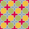 Multicolor arabic byzantine seamless pattern vector illustration Stock Photos