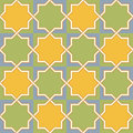 Multicolor arabic byzantine seamless pattern vector illustration Royalty Free Stock Images
