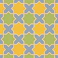 Multicolor arabic byzantine seamless pattern vector illustration Royalty Free Stock Photo