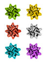 Multicolor bows Stock Photography