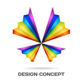 Multicolor butterfly design concept Stock Photo