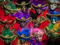 Multicolor Carnival Venetian Masks Royalty Free Stock Photo