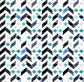 Multicolor chevron style seamless pattern. Arrows texture. Royalty Free Stock Photo