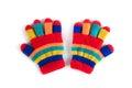 Multicolor children`s gloves