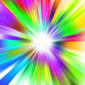 A multicolor design with a burst. EPS 8 Stock Photo