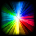 A multicolor design with a burst. EPS 8 Stock Photography