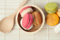 Multicolor dessert french macaroons Royalty Free Stock Photo