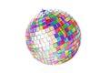 Multicolor disco ball