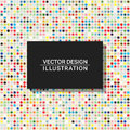 Multicolor dots background template