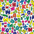 Multicolor english alphabet seamless pattern Royalty Free Stock Photo