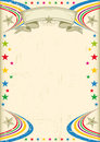 Multicolor fiesta poster a vintage champagne color with stars for your advertising Royalty Free Stock Image
