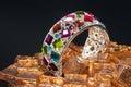 Multicolor gem Bracelet Royalty Free Stock Photo