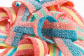 Multicolor gummy candy (licorice) background Stock Image