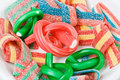 Multicolor gummy candy (licorice) sweets closeup Royalty Free Stock Photo