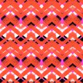 Multicolor hand drawn pattern zigzag Royalty Free Stock Photo