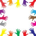 Multicolor hands Royalty Free Stock Photography