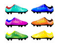The Multicolor Illustration of Sport Football Boot Stock Photography