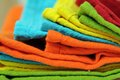 Multicolor napkins for background uses Royalty Free Stock Image