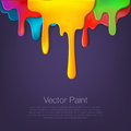 Multicolor paint dripping on background Royalty Free Stock Photo