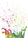 Multicolor paint splash Stock Image