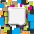 Multicolor square and frame background Royalty Free Stock Photo