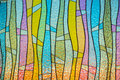 Multicolor stain glass wallpaper background thailand Stock Image