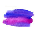 Multicolor watercolor strokes texture saturate blue violet and magenta colors artistic background with canvas abstract Stock Photo